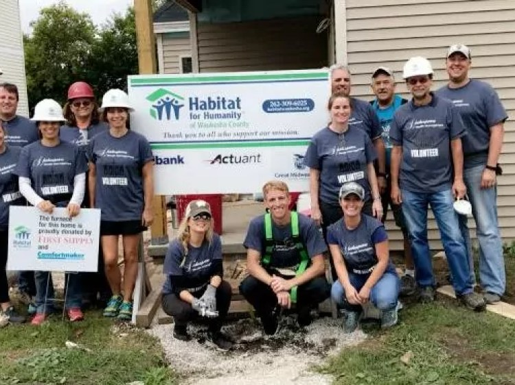 Habitat For Humanity team build