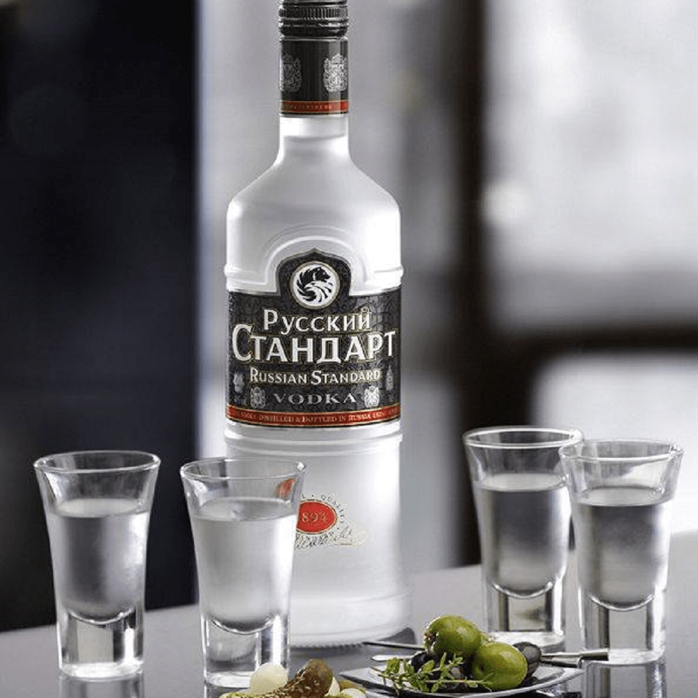 try a vodka during your visit to Russia
