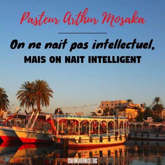 On ne nait pas intellectuel, mais on nait intelligent...
