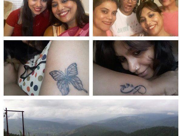 Joie de vivre July gratitude friends tattoo hills holiday clouds hill station