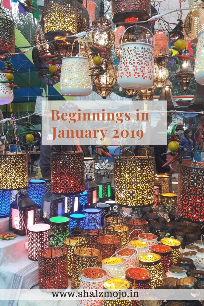 Beginnings in January 2019- gratitude- lamps- lights-tealights- cutwork- metal lamps- dilli haat