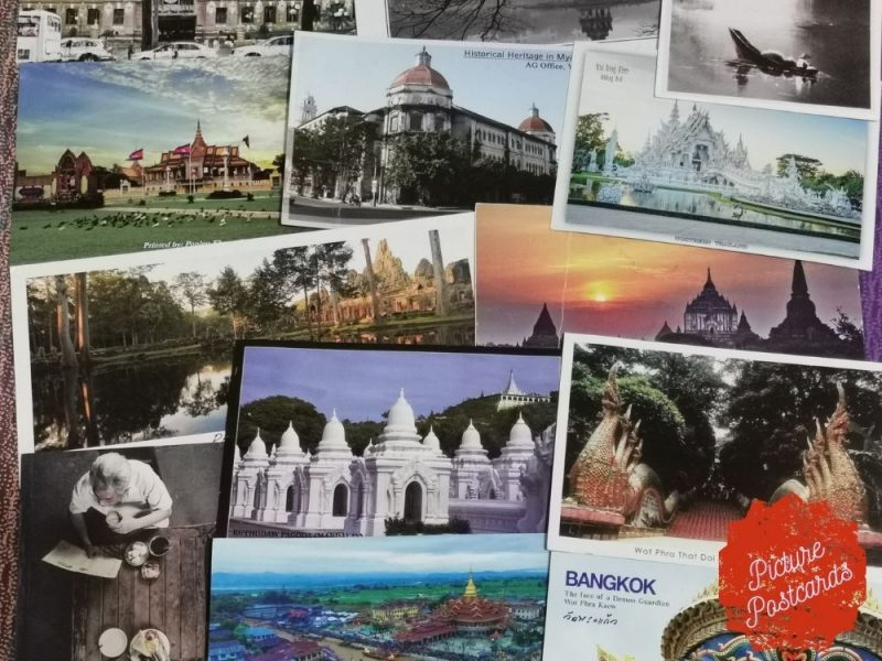 Postcards- travel- post office- stamps