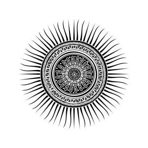 Mayan Sun Symbol