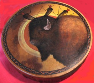Buffalo Spirit Drum by Rose Briseno