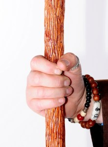 hand wood staff