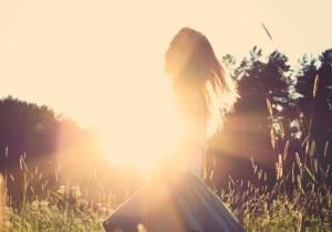 Woman Sunlight Walking