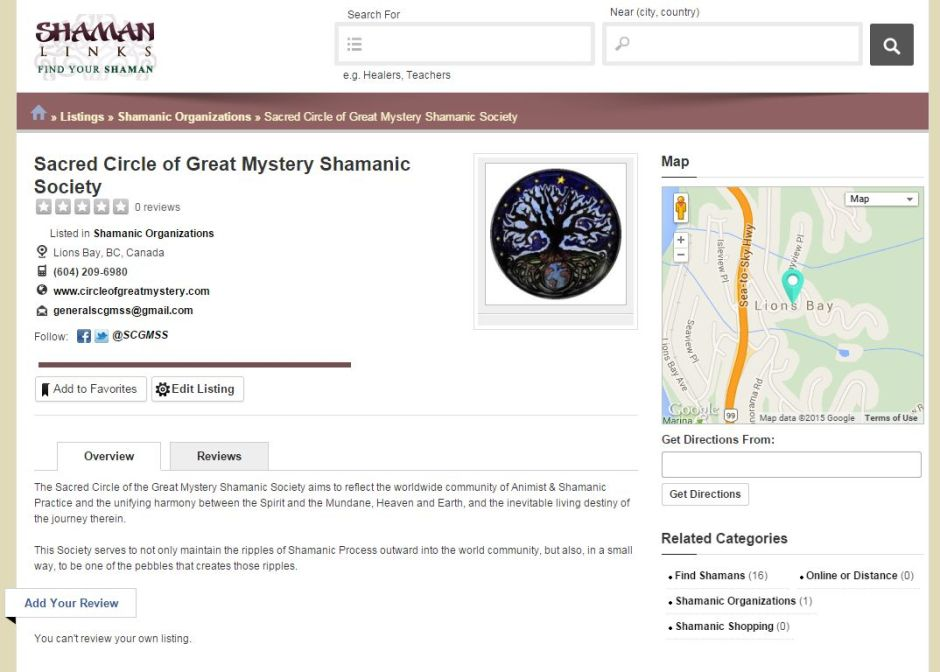 shaman links directory listing