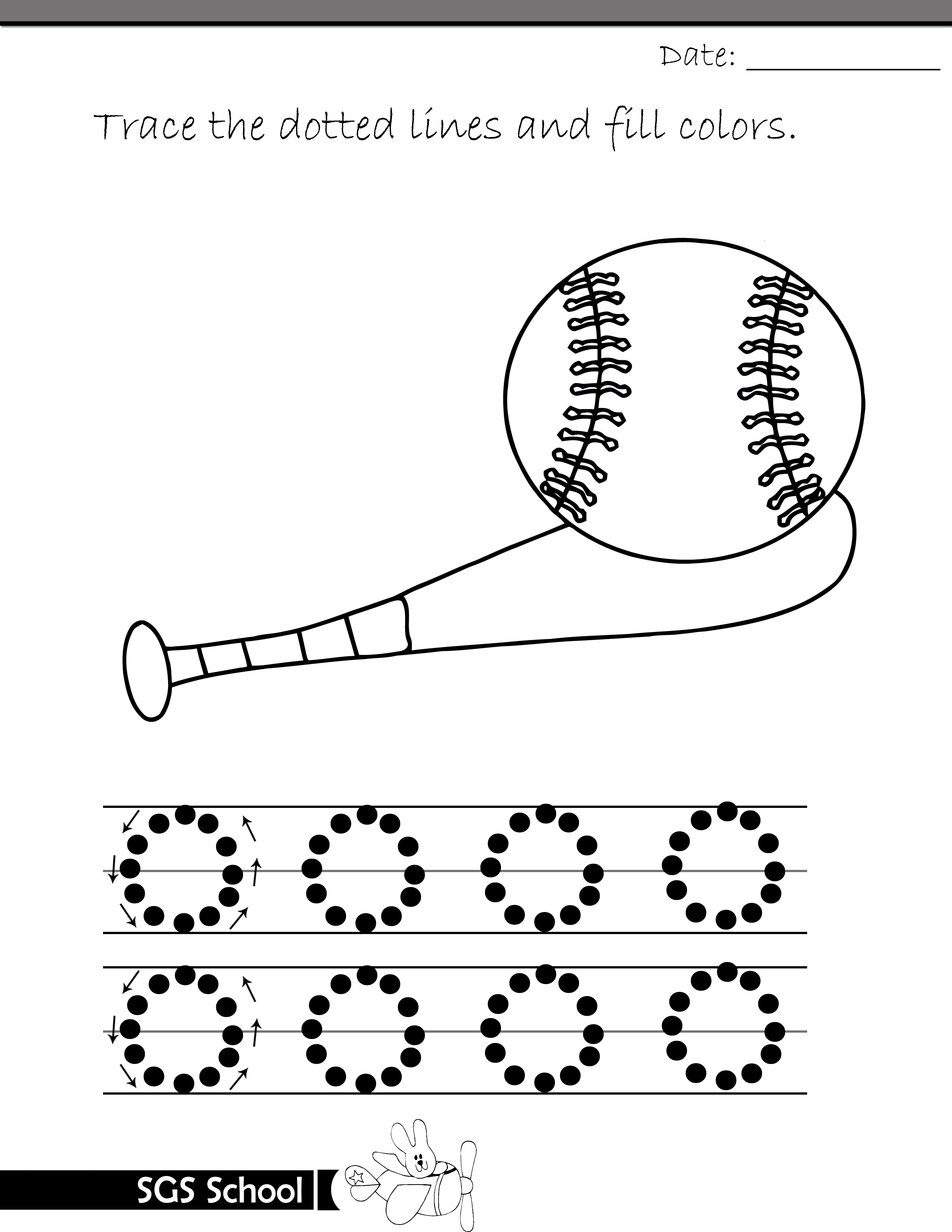Printable A4 Tracing Drawing Worksheets for Kindergarten