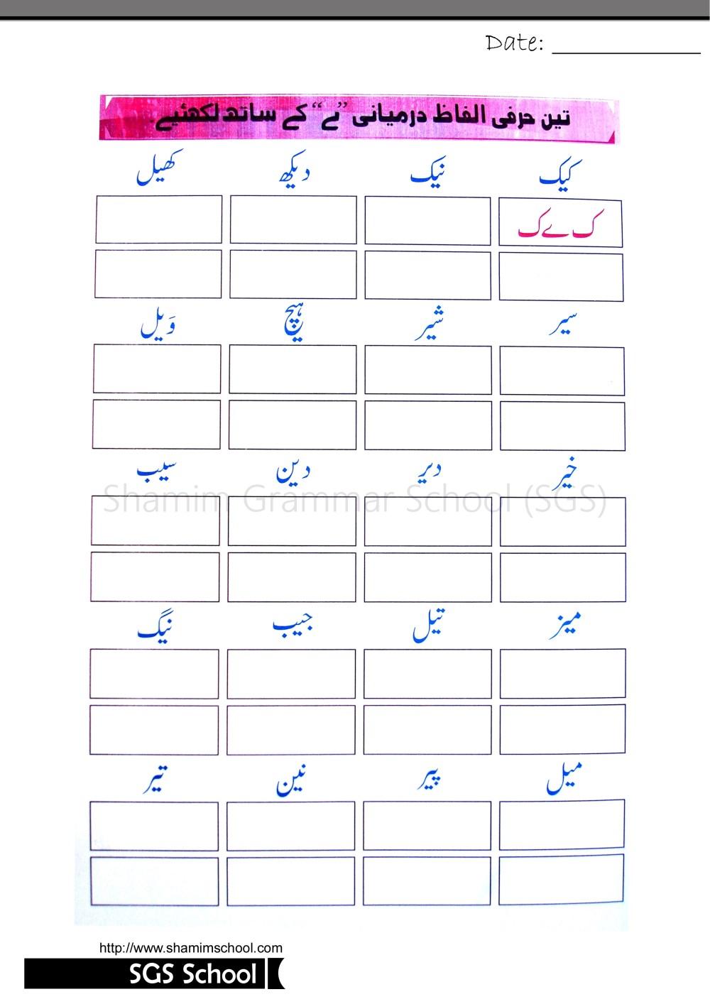 medium resolution of Urdu Grammar Worksheet In Urdu   Printable Worksheets and Activities for  Teachers