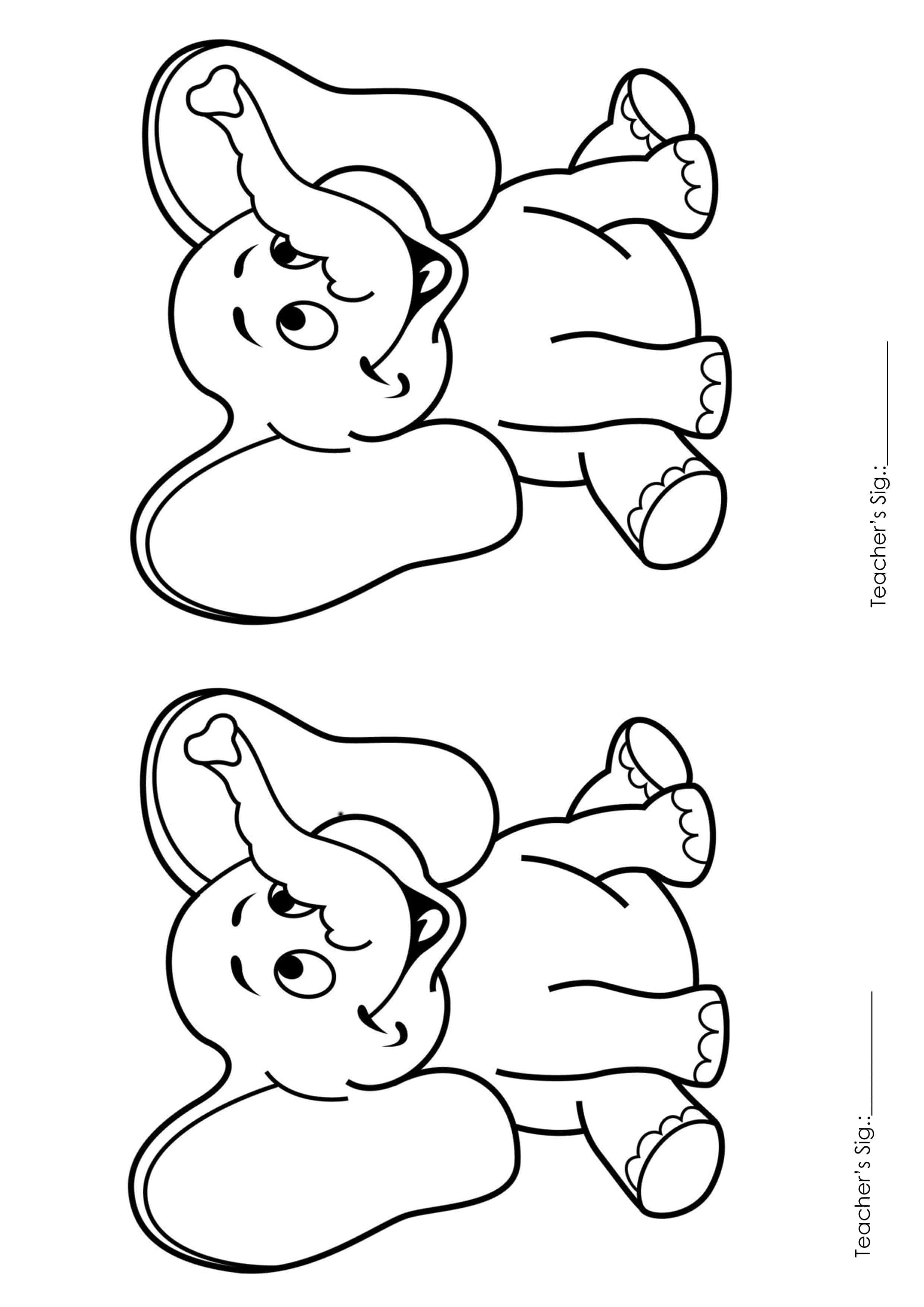 Printable Coloring Pages For Kids Playgroup A4 Size 1