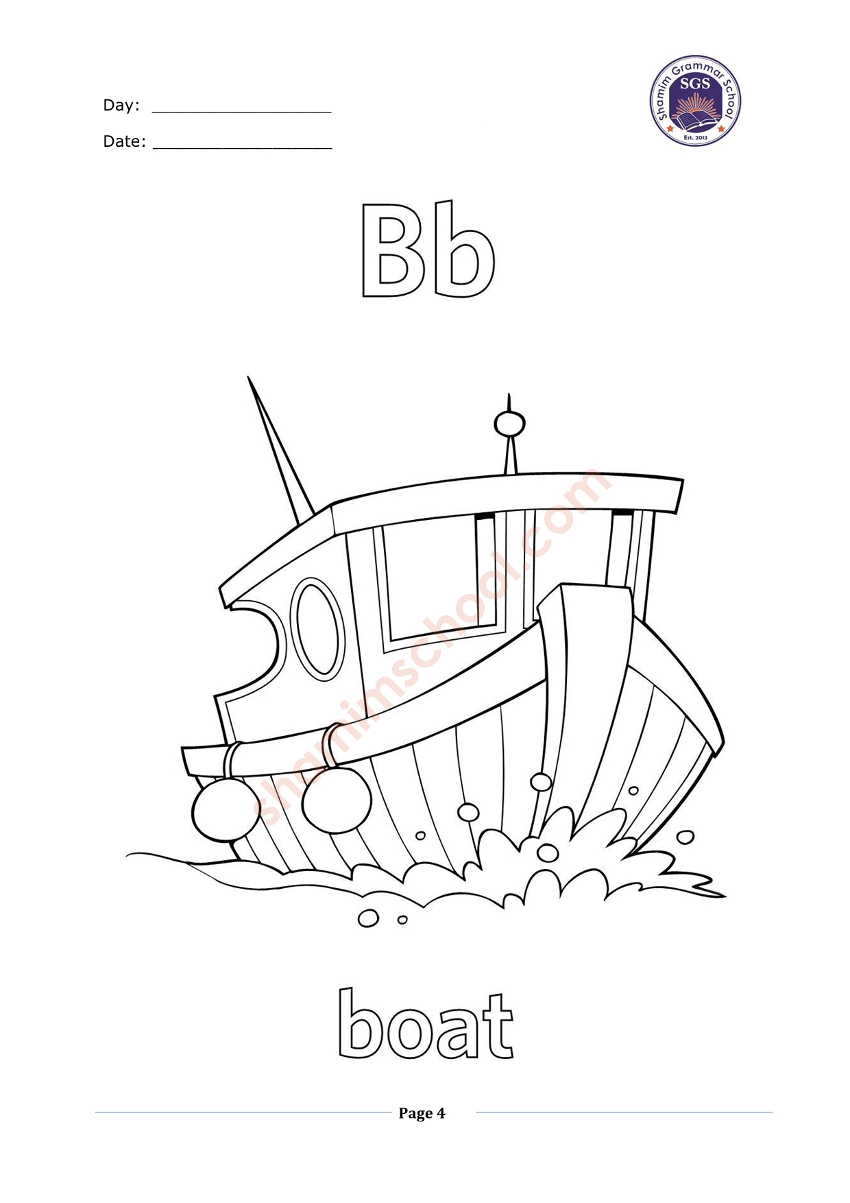 "English Alphabets ""B"" Tracing Worksheet"