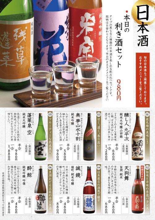 日本酒ページ㈰