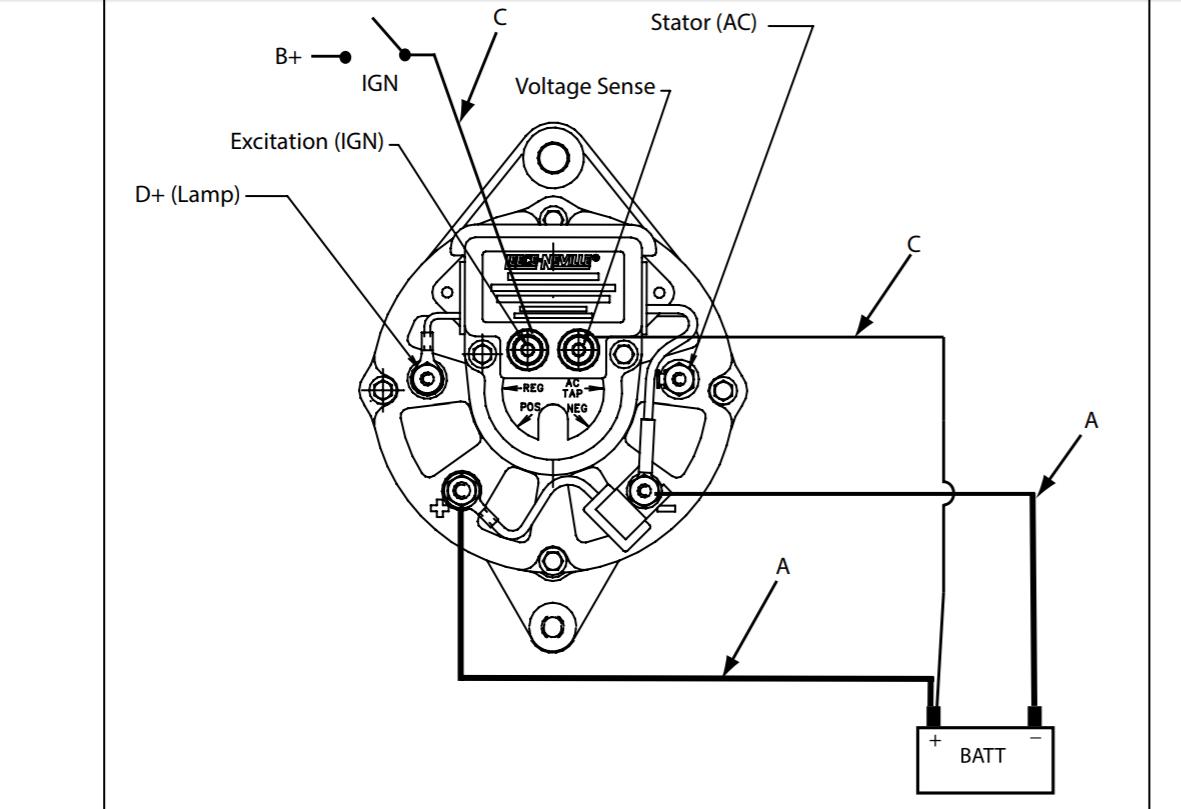 hight resolution of  wiring my new alternator shamrock boat owners club on yanmar wiring diagram marine