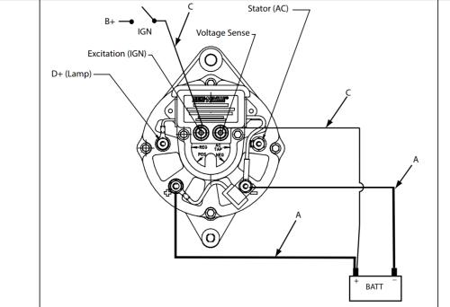 small resolution of  wiring my new alternator shamrock boat owners club on yanmar wiring diagram marine