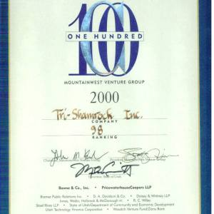 Top 100 Fastest Growing Companies in Utah 2000
