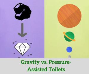 Gravity vs pressure-assisted toilets