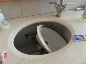 too heavy sink fail