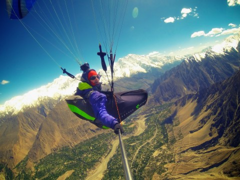 Flying at 6500m in Pakistan