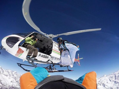 Heli shoot Wingsuit