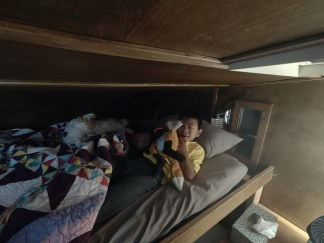 Top bunk occupied
