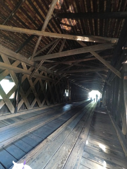 Inside Watson Mill Bridge