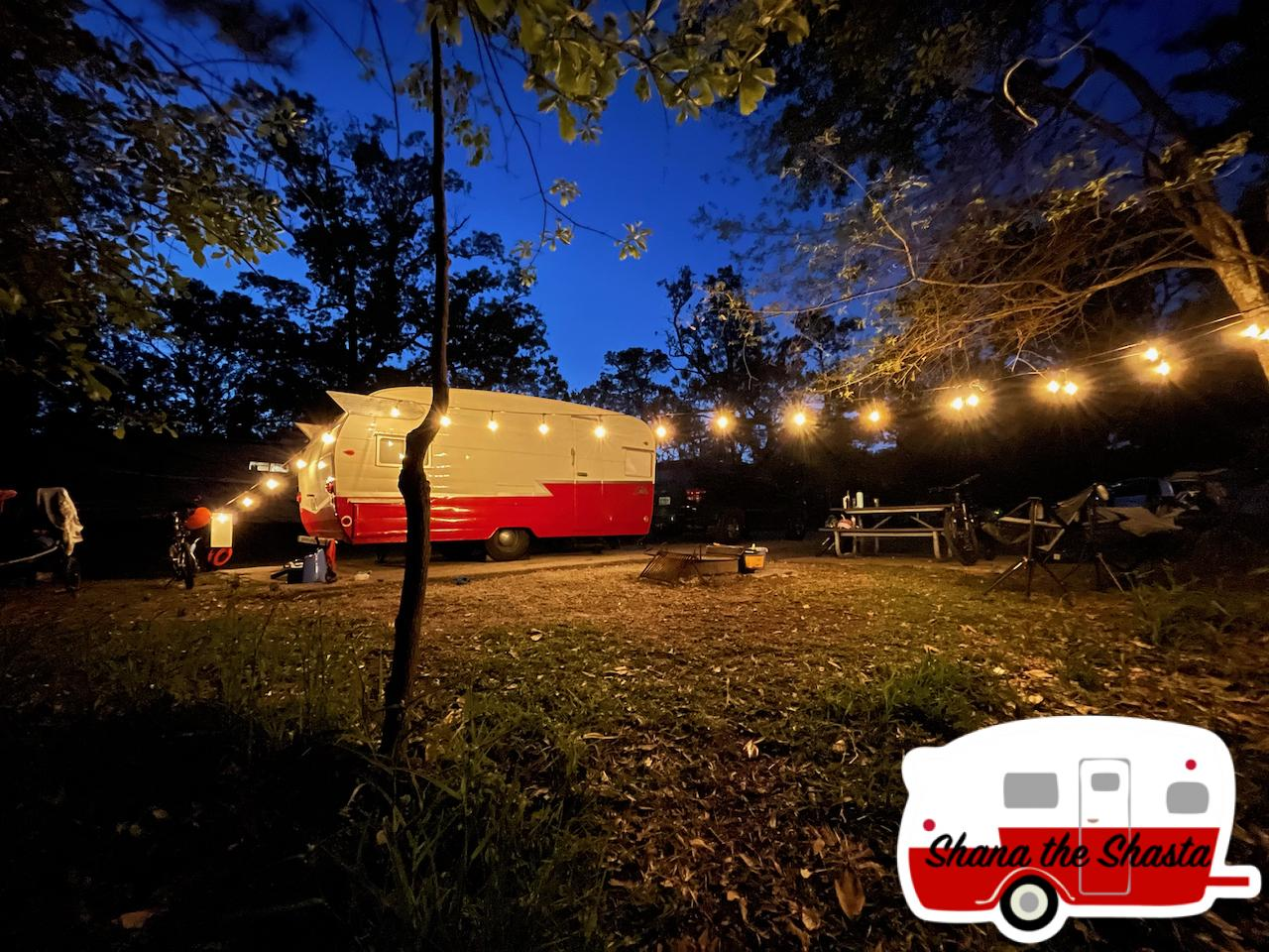Campsite-16-under-the-lights-at-Gulf-Island-National-Seashore