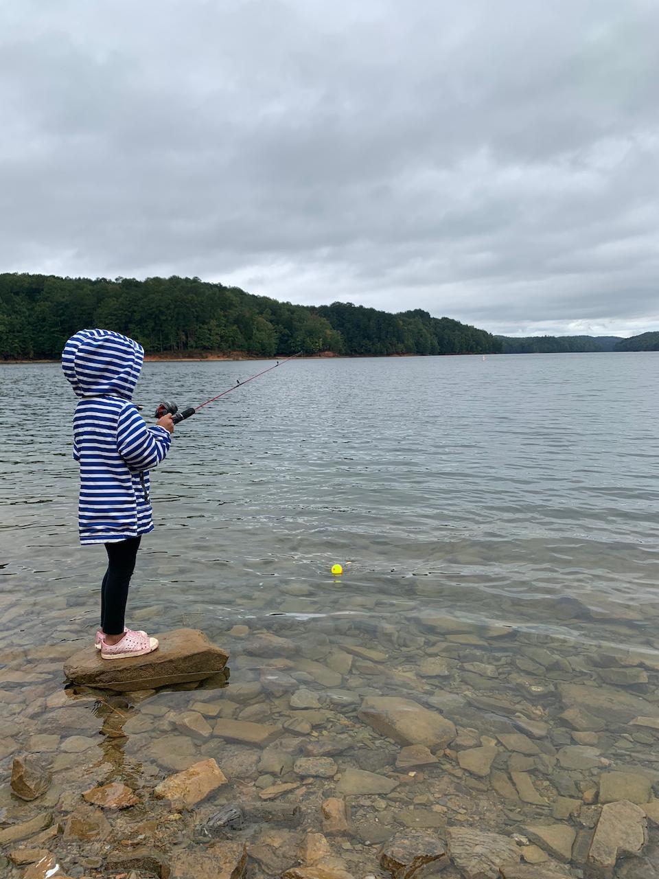 Casting-at-Carters-Lake