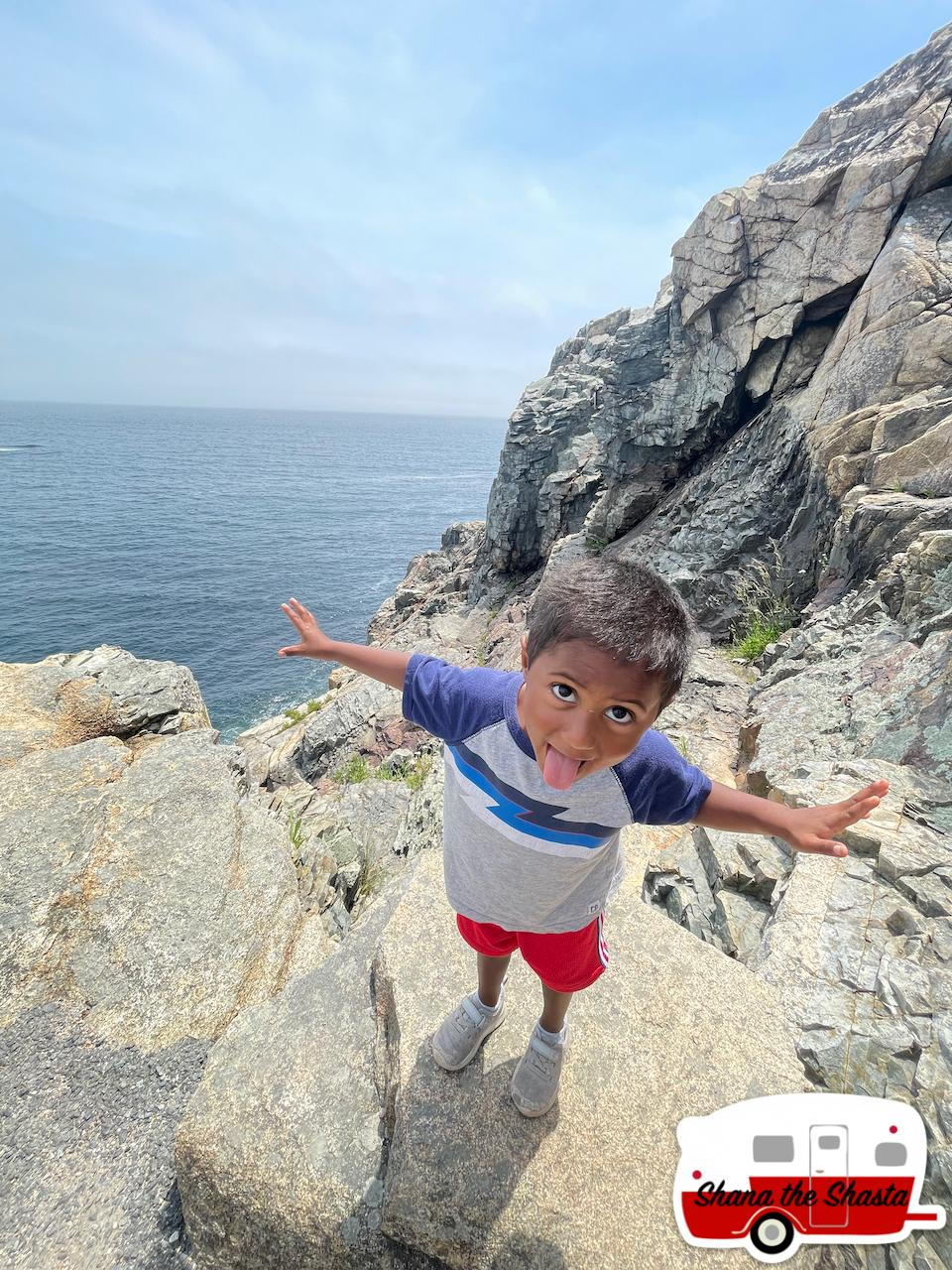 Crazy-Little-Dude-on-Acadia-Cliff