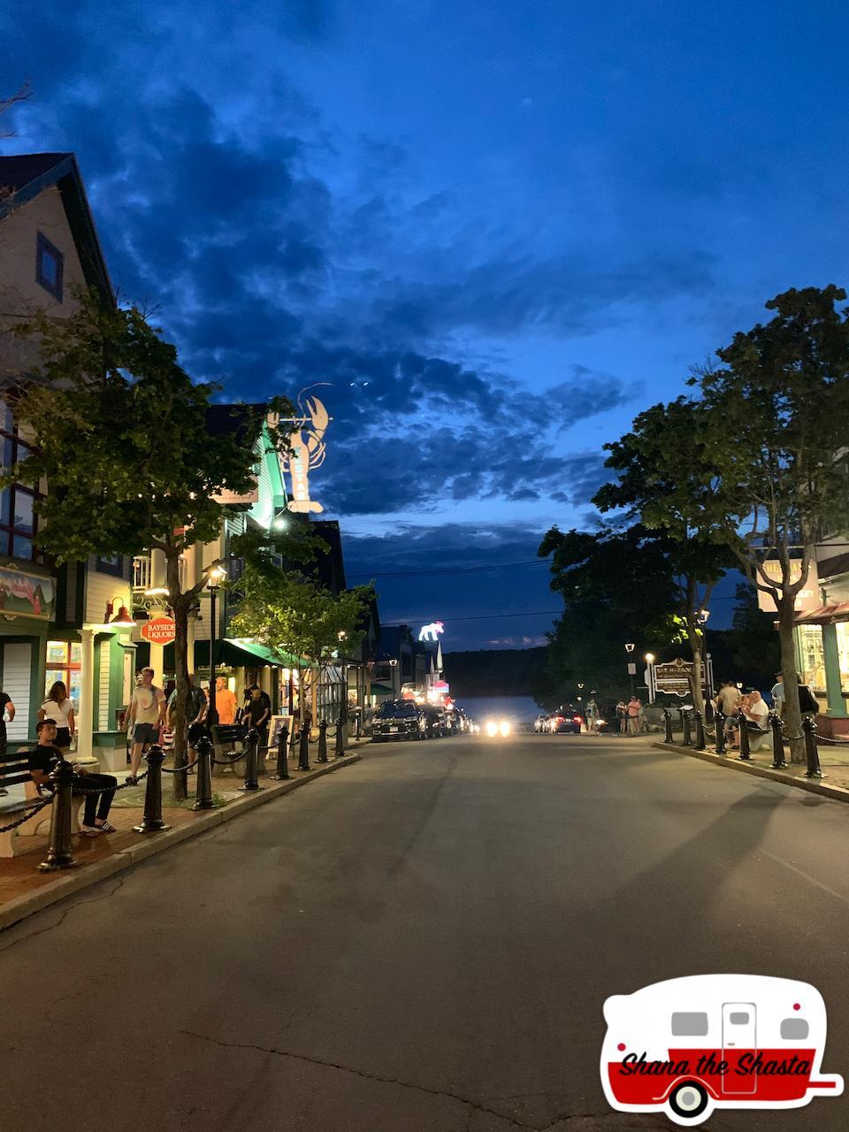 Downtown-Bar-Harbor-at-Sunset