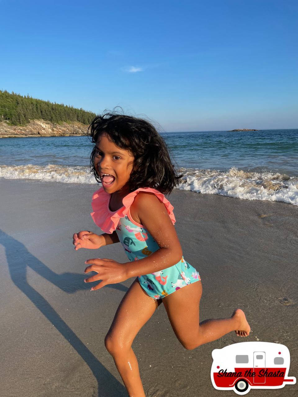 Happy-Girl-at-Sand-Beach-in-Acadia