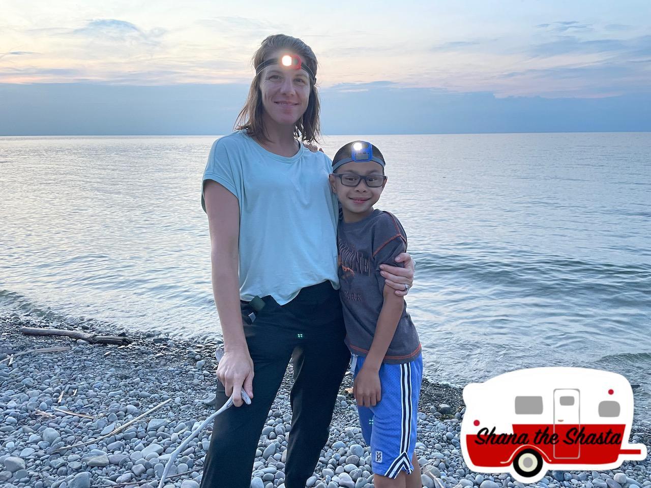 Mom-Son-Lake-Ontario-Shore