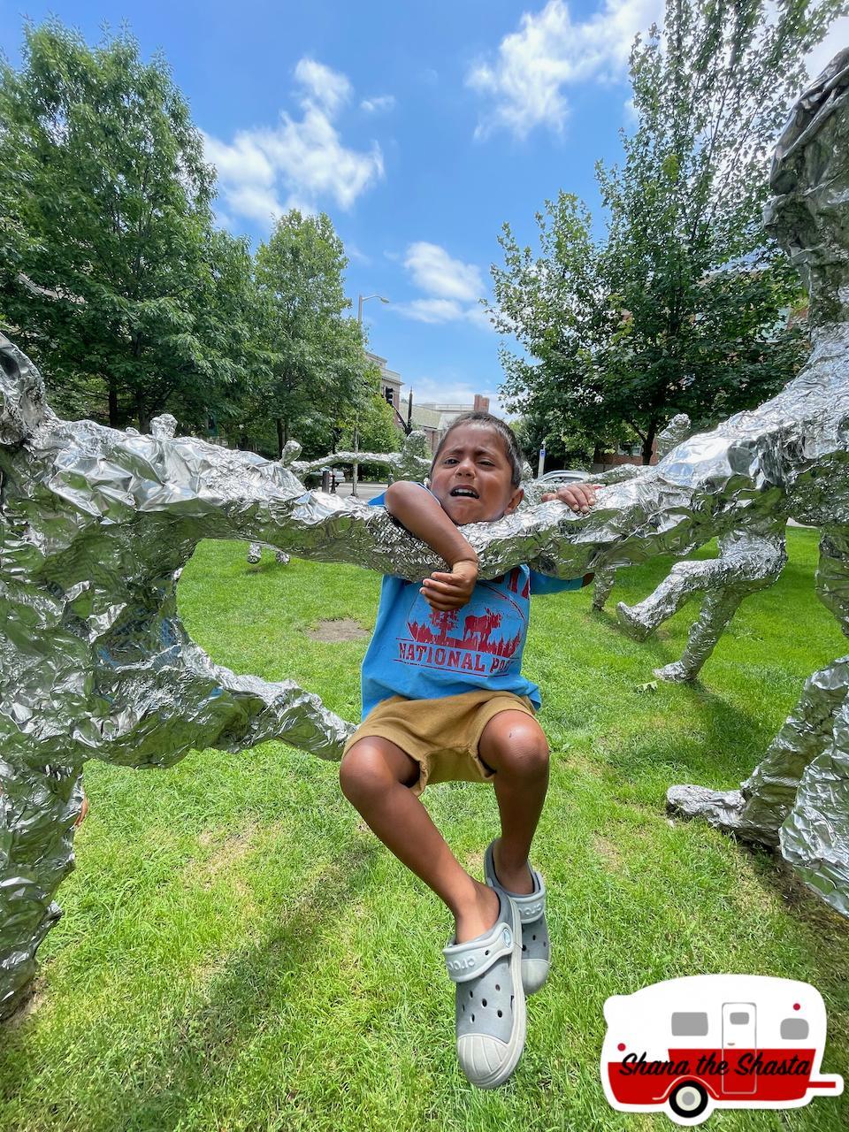 Stuck-on-Tin-Foil-Sculpture-at-Brown