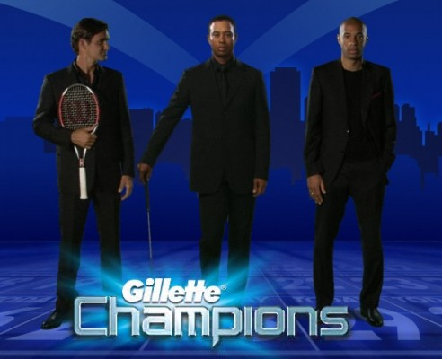 The French Version of the Gillette Champions website - Note no Football