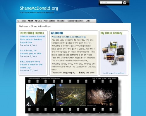 ShaneMcDonald.org – Site Design Updated