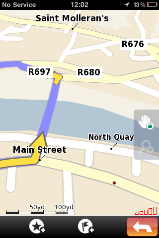 NDrive iPhone Sat Nav App - GUI