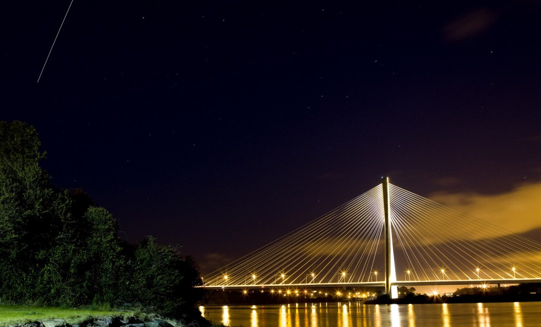 International Space Station Photo over new Waterford Bridge