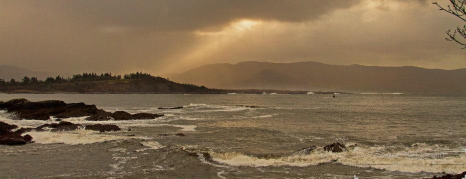 Sun Rays near Sneem in Co Kerry, Parknasilla, Ireland
