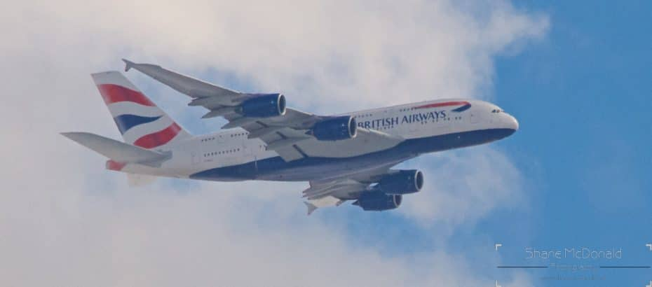 Airbus A380 Emerged from Clouds
