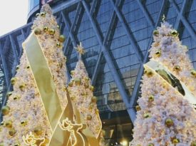 Digital photo media of Centralworld Christmas decoration.