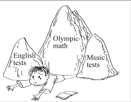 Little kids tortured by Olympic math 'required' for middle
