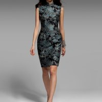 QIPAO| Shanghai Tang - Phoenix Tattoo printed dress...