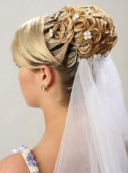 bridal wedding hairstyles long