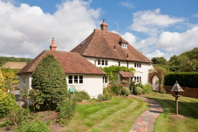 Period house set in the grounds of this smallholding designed by Shani Lawrence Garden Designs.