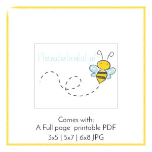 Where Would We Bee Volunteer Thank You Cards Shannan With An A