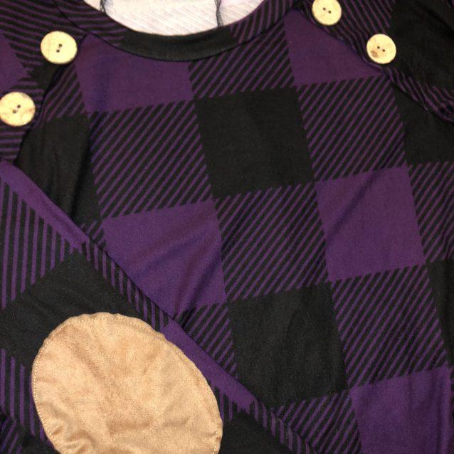 Ultra violet plaid swing dress