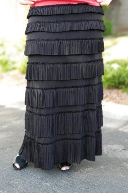 Pleated Eleganza Skirt ~ Black