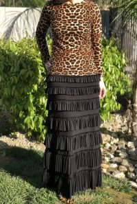 Pleated eleganza skirt ~contour