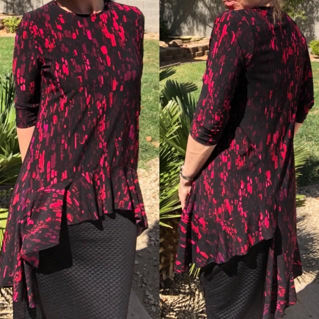Zari ruffle tunics - pink black