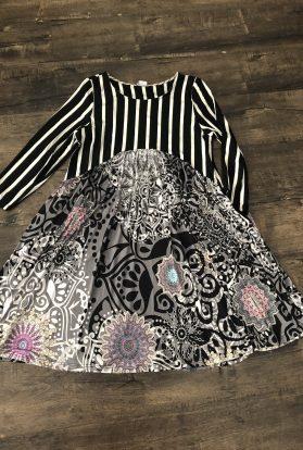 Striped Kaleidoscope tunic dress