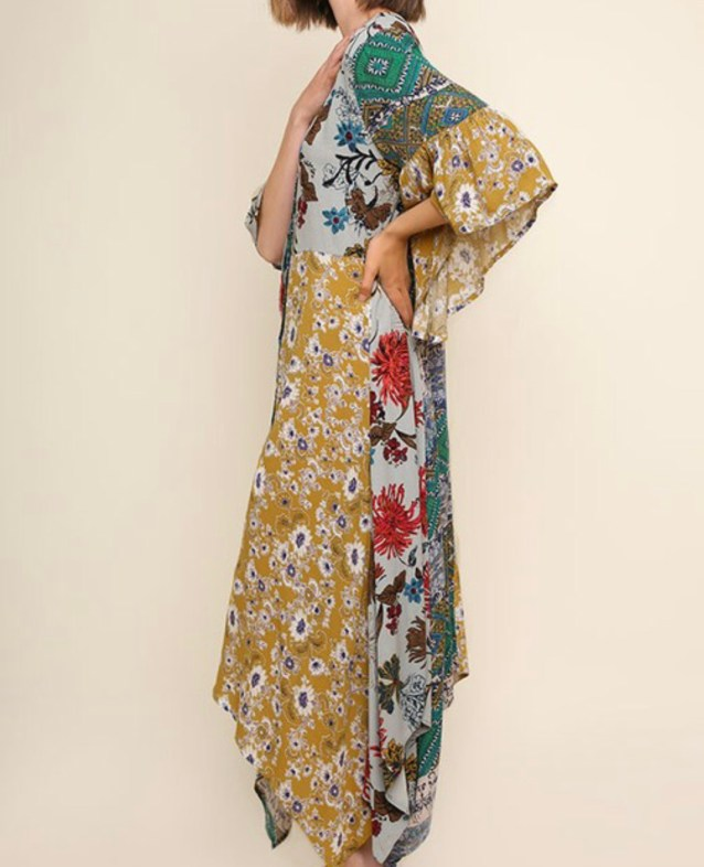 bohemian flare dress
